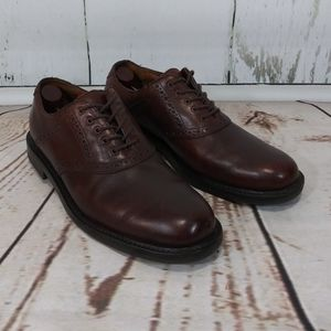Johnston & Murphy Brown Leather Saddle Lace 9.5M